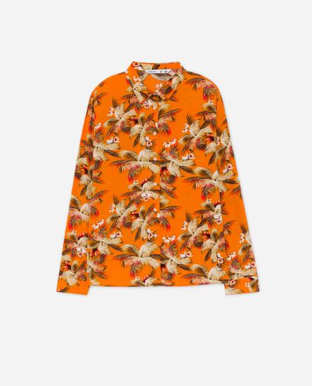 Printed oversize shirt