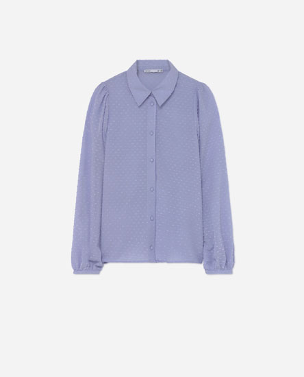 Dotted mesh shirt