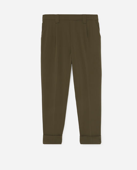 Joggers with darted waist