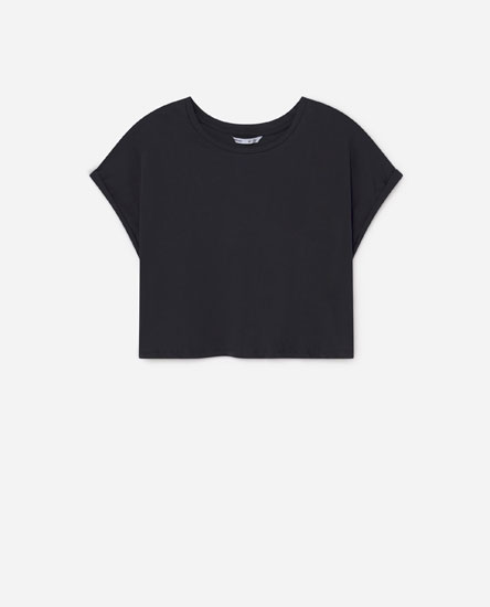 Cropped wide fit t-shirt