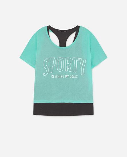 Camiseta doble capa print