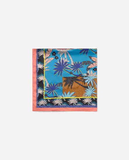 Palm tree satin neckerchief