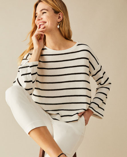 Striped rustic sweater