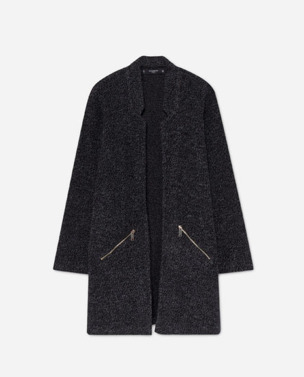 Open flecked coat
