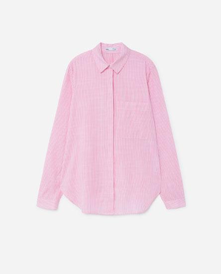 Рубашка с полоску с карманом