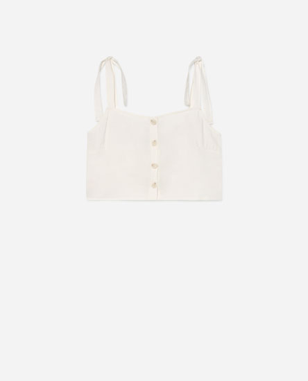 Cropped top-a botoiekin