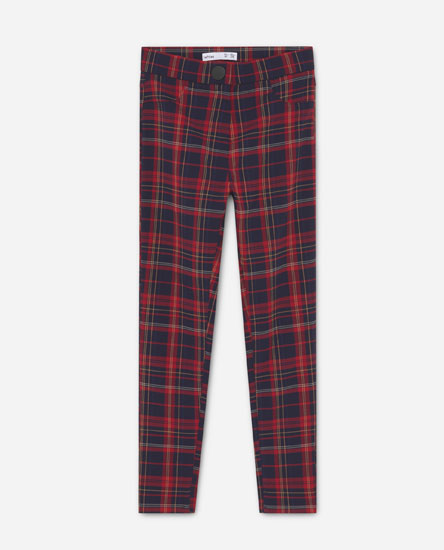 Gingham check trousers