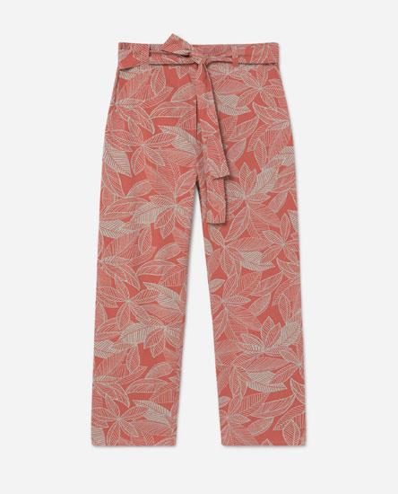 Pantalón ancho follas