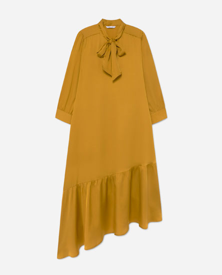 Dress with ruffled hem