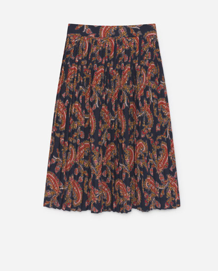 Accordion pleat skirt