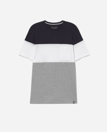 T-shirt with ottoman pocket