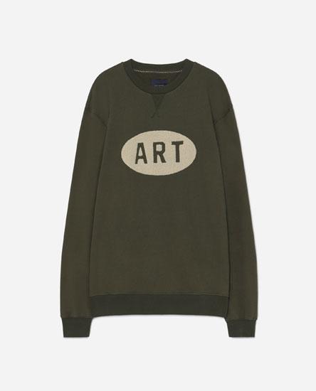 Slogan detail sweatshirt