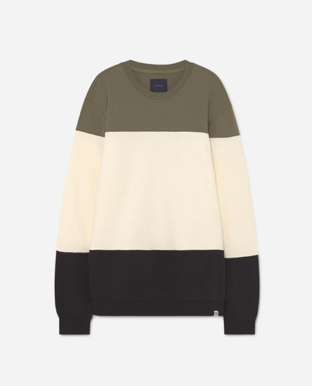 Colour block panel print sweatshirt