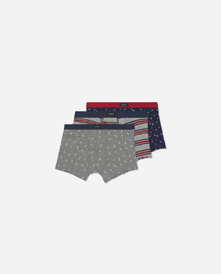 Pack of astronaut-print boxers