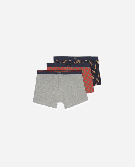 Pack de boxers estampados