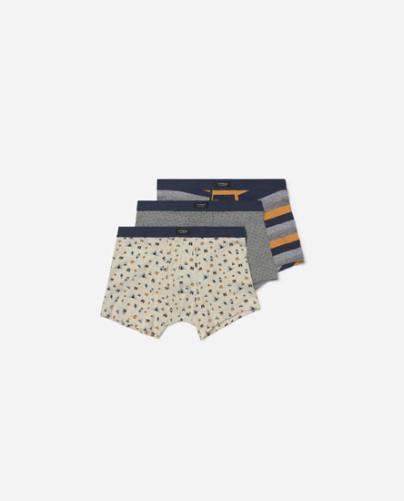 Pack of camping-print boxers