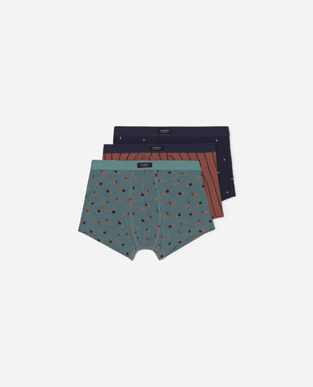 Pack de 3 boxers estampados