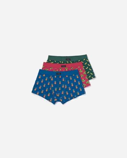 Pack of printed boxers