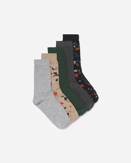 Pack 5 calcetines estampados