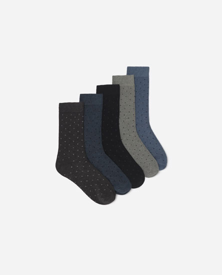 Pack of 5 mini polka dot socks