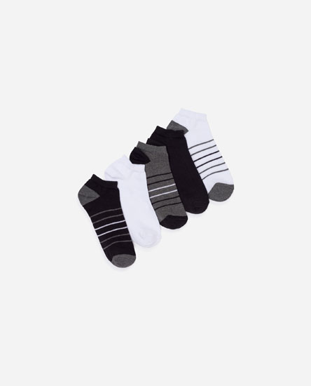 Pack of striped short socks