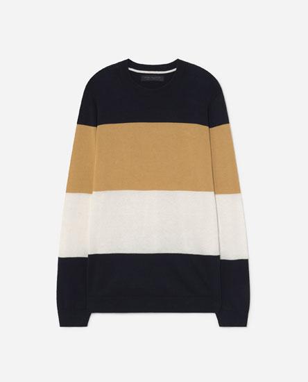 Sweater com riscas às cores