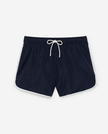 Contrast swimming trunks