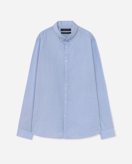 Camisa em popelina estampada