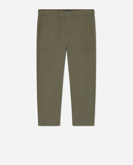 Trousers with side pocket