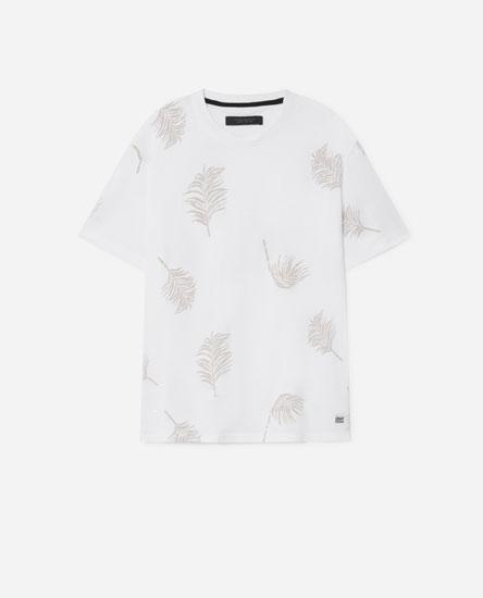 Camiseta estampado follas