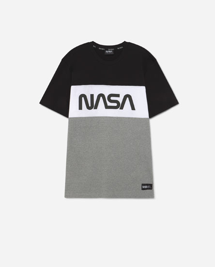 Colour block Nasa t-shirt