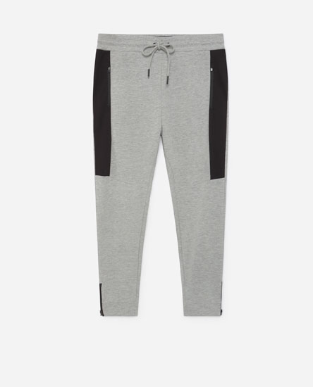 Slim fit plush trousers