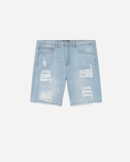 Bermudas denim rotos