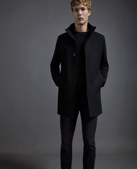 Long coat with buttons