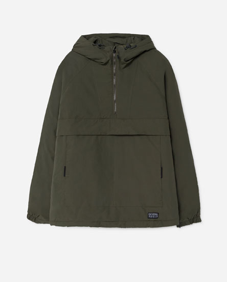 Puffer pouch pocket jacket