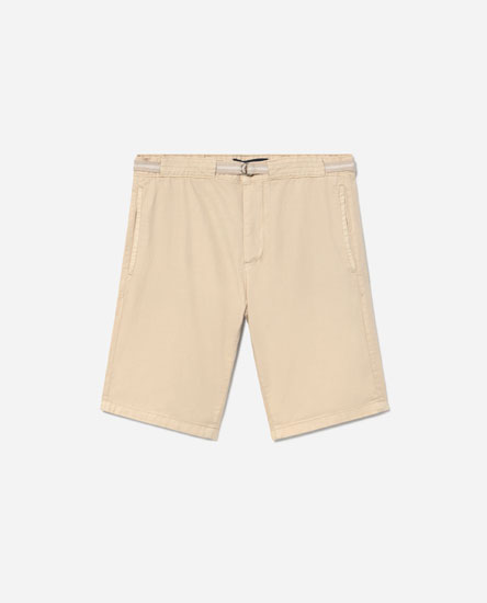 Linen-effect Bermuda shorts