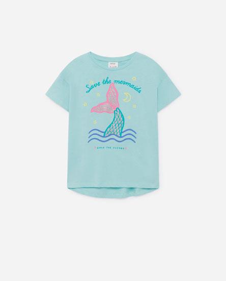 T-shirt padrão glitter