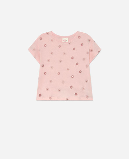 Printed T-shirt with glitter detail
