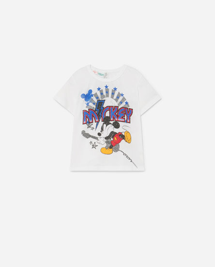 Mickey Mouse © Disney guitar print T-shirt