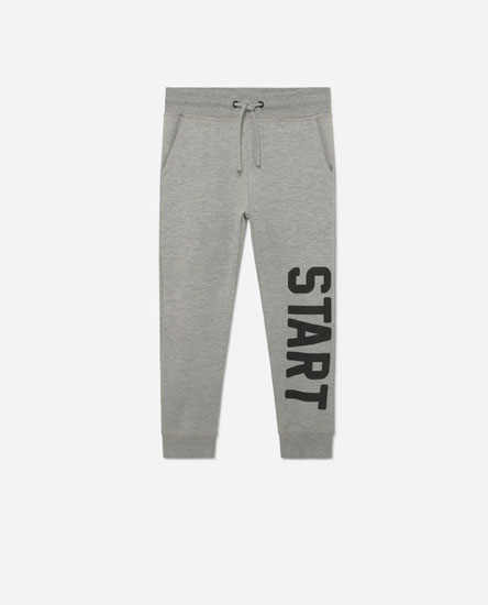 Slogan trousers