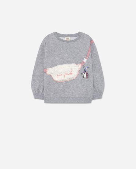 Sweatshirt with embellished pocket