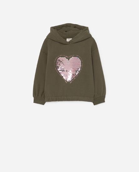 Sequinned hoodie