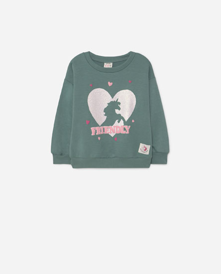 Glitter print sweatshirt