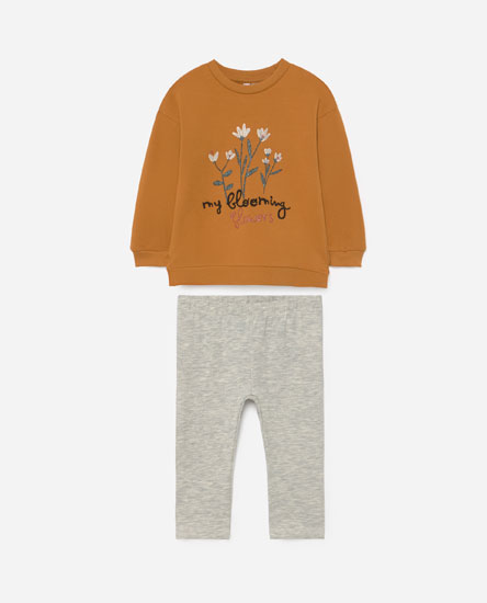 Sweatshirt and leggings set
