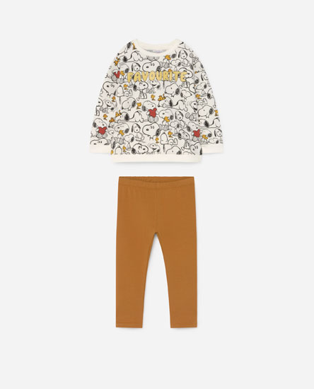 Snoopy sweatshirt and leggings set