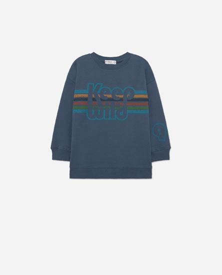 Sweatshirt com estampado de texto