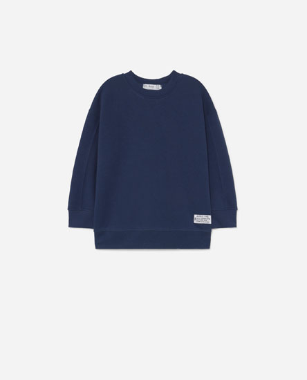 Sweatshirt with collar detail