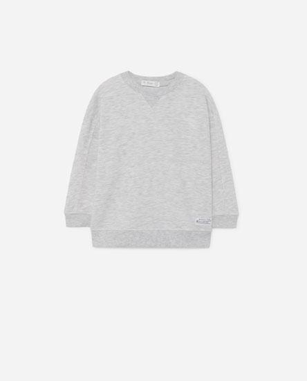 Sweatshirt with collar detail
