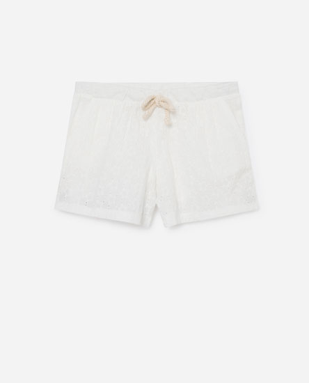 Swiss embroidered shorts