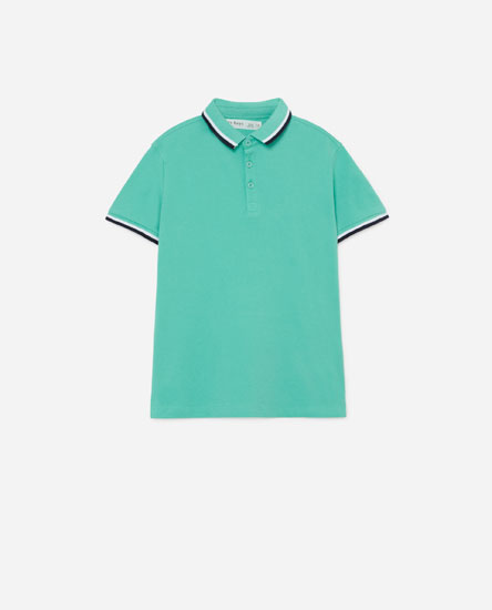 Polo shirt with contrast details